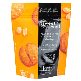 Sweetwell Keto Cookies with Collagen Peanut Butter, 90g