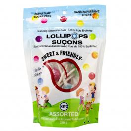 Sweet & Friendly Sugar Free Lollipops Assorted, 250g