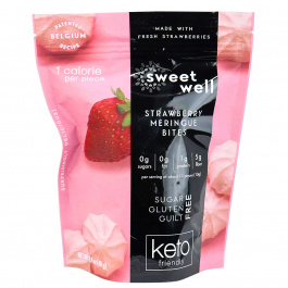 Sweetwell Keto Meringue Bites Strawberry, 40g