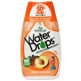 Sweetleaf Peach Mango Water Drops, 48ml