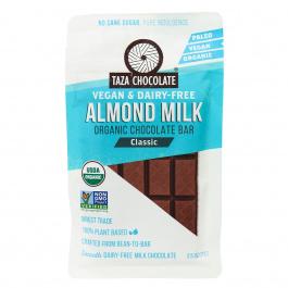 Taza Organic Almond Milk Chocolate Classic, 70g