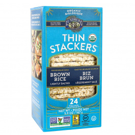 Lundberg Family Farms Thin Stackers Brown Rice Lightly Salted, 167g