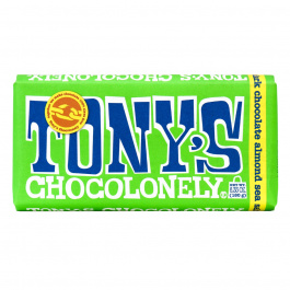 Tony's Chocolonely Dark Chocolate Almond Sea Salt, 180g