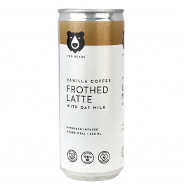 Two Bears Frothed Latte with Oat Milk Vanilla Coffee, 250ml