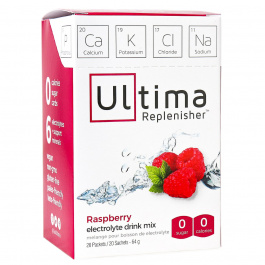 Ultima Replenisher Electrolyte Drink Mix Raspberry, 20 Packets