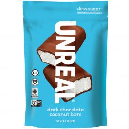 Unreal Dark Chocolate Coconut Bars, 120g