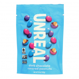 Unreal Dark Chocolate Peanut Gems, 142g