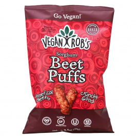 Vegan Rob's Sorghum Beet Puffs with Probiotics, 99g