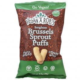 Vegan Rob's Sorghum Brussel Sprout Puffs with Probiotics, 99g