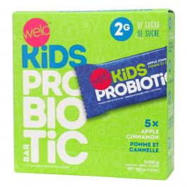 Welo Kids Probiotic Bars Apple Cinnamon, 5 Bars