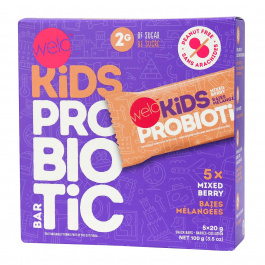 Welo Kids Probiotic Bars Mixed Berry, 5 Bars
