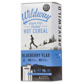 Wildway Grain-Free Instant Hot Cereal Blueberry Flax, 4 Packets