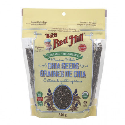 Bob's Red Mill Organic Premium Whole Chia Seeds, 340g