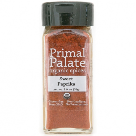 Primal Palate Organic Spices Sweet Paprika, 53g