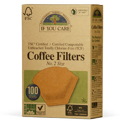 If You Care FSC Certifited Unbleached Coffee Filters - #2 Size, 100 ct