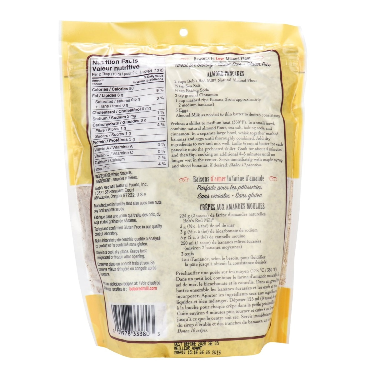 Bob S Red Mill Super Fine Natural Almond Flour In Canada Gluten Free Paleo Low Carb Flour Naturamarket Ca