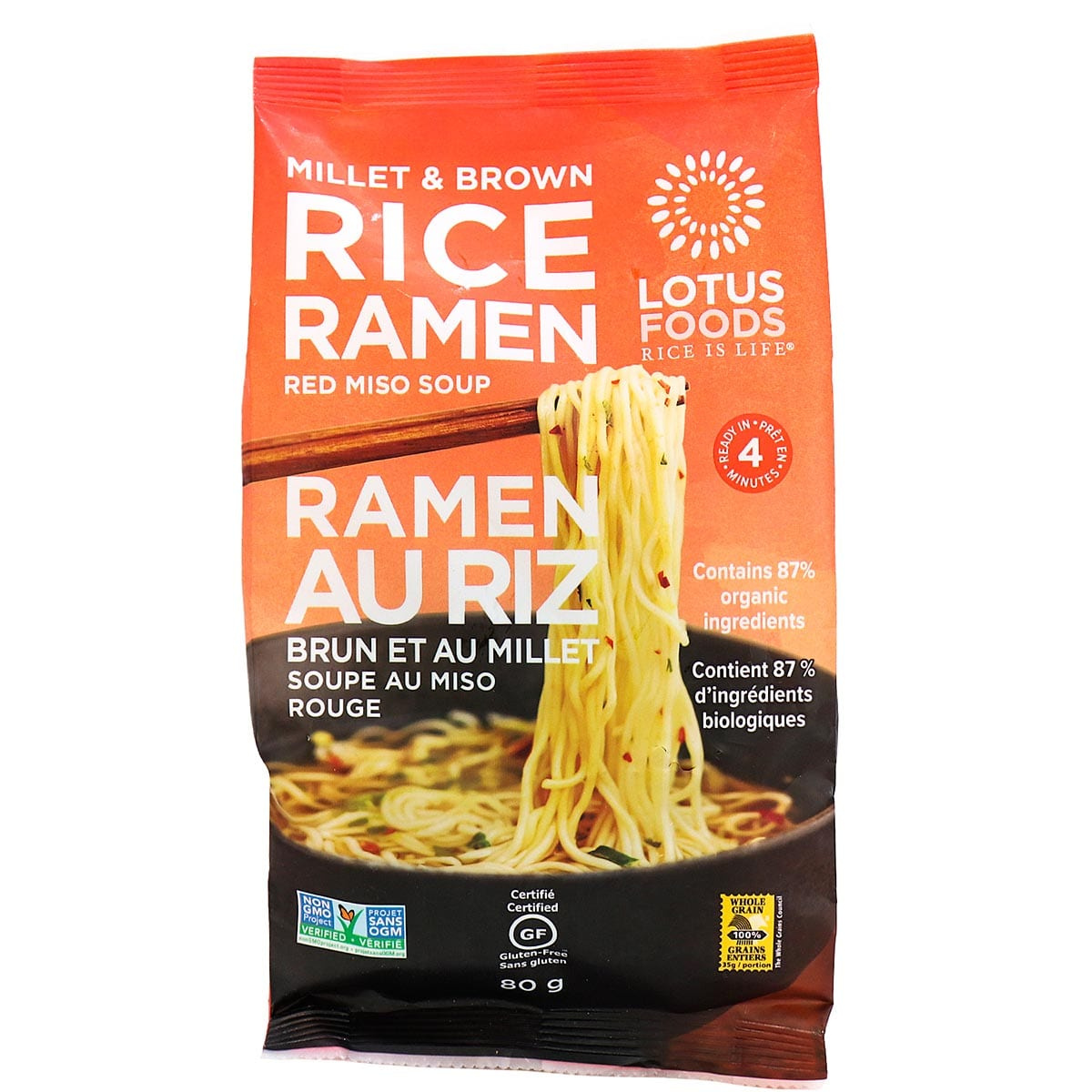 Lotus Foods Millet And Brown Rice Ramen Noodles With Miso Soup In Canada Gluten Free Soup Noodles Naturamarket Ca