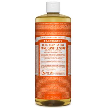 Dr. Bronner's Organic Tea Tree Pure Castile Liquid Soap, 946ml
