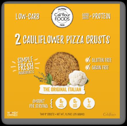 Cali'flour Foods Cauliflower Pizza Crust - The Original Italian, 2 Crusts