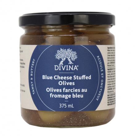 Divina Blue Cheese Stuffed Green Olives, 375ml